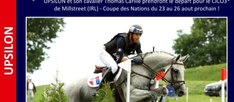 UPSILON & Thomas Carlile : sélectionnés pour le CICO3* de Millstreet !