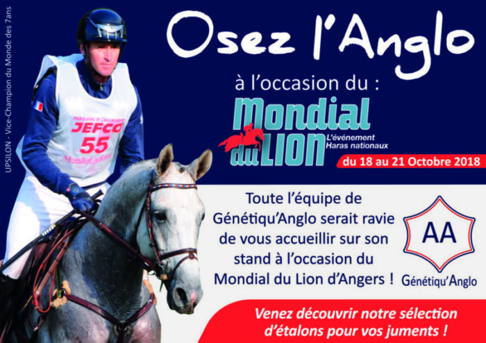 Génétiqu'Anglo vous donne RDV au Mondial du Lion !