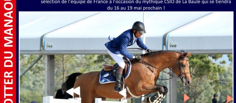 Le fils de POTTER DU MANAOU intègre l'équipe de France pour le CSIO de La Baule !