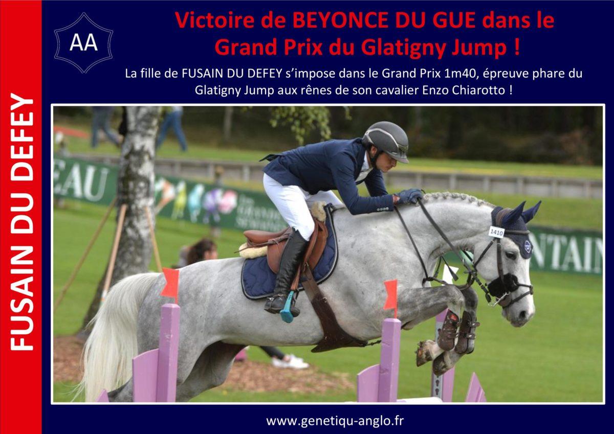 Victoire d'une fille de FUSAIN DU DEFEY dans le GP du Glatigny Jump !