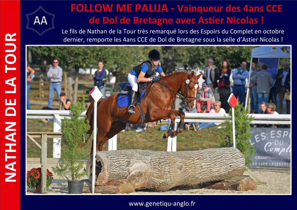 FOLLOW ME PALIJA – Vainqueur des 4ans CCE de Dol de Bretagne avec Astier Nicolas !