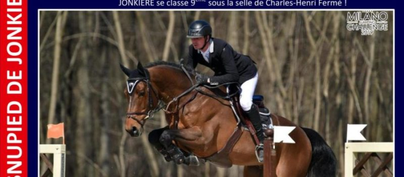 9ème place pour VASNUPIED DE JONKIERE dans le GP1m45 du CSI3* de Maubeuge !