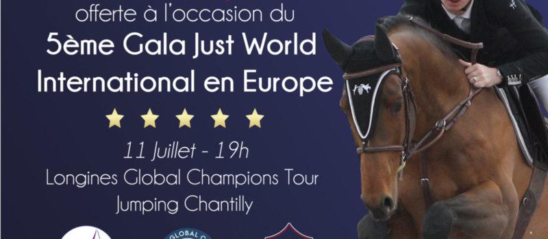 Une saillie de VASNUPIED DE JONKIERE offerte à l'occasion du Gala Just World Europe pendant le LGCT de Chantilly !