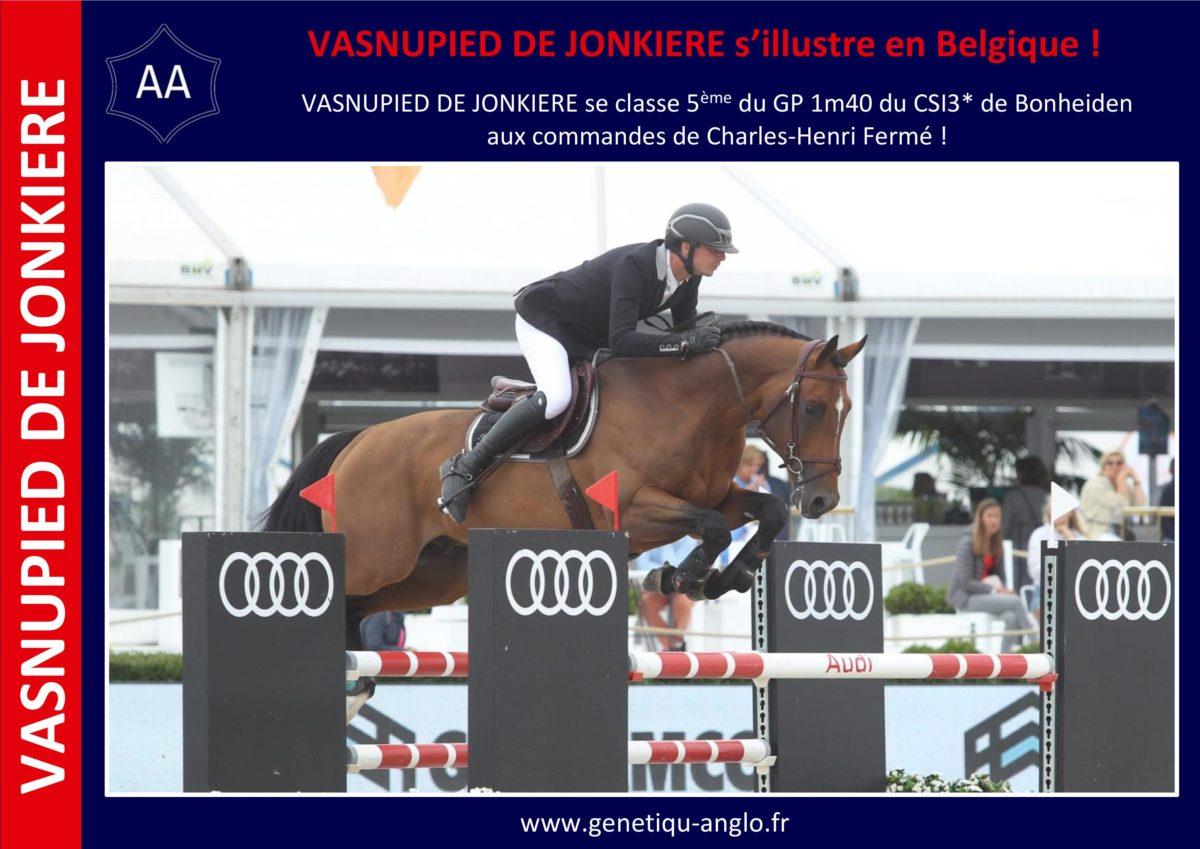 VASNUPIED DE JONKIERE s'illustre en Belgique !
