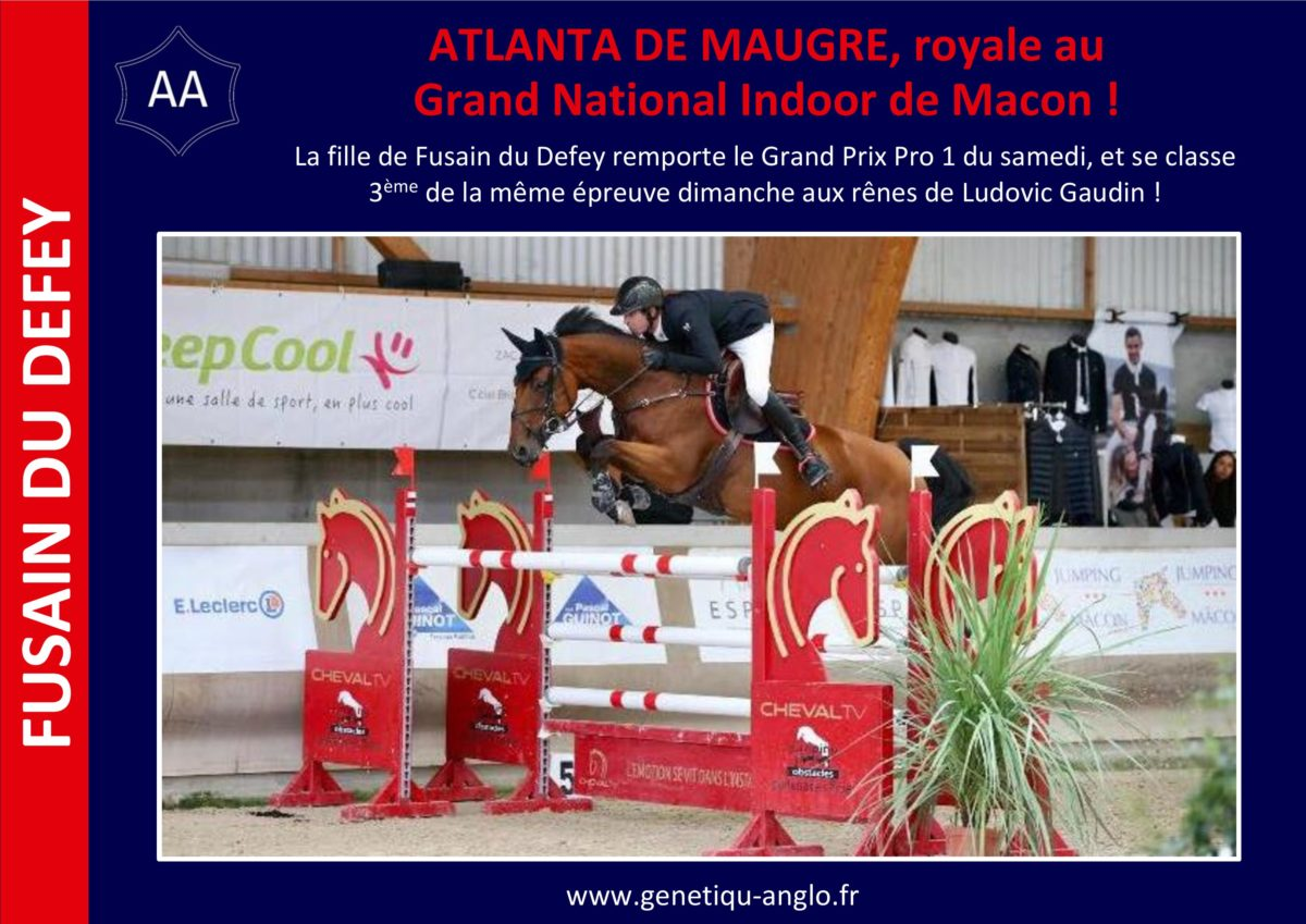 ATLANTA DE MAUGRE, royale au Grand National Indoor de Macon !
